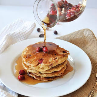 Vegan Cranberry Orange Pancakes.