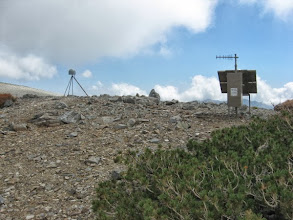Photo: EarthScope GPS monitoring station (www.earthscope.org) near the summit of Mt. Harwood