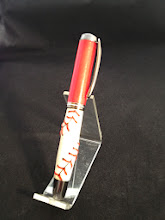 Photo: Go Phillies!  Jr. Gent Rollerball with Polymer Clay baseball blank.