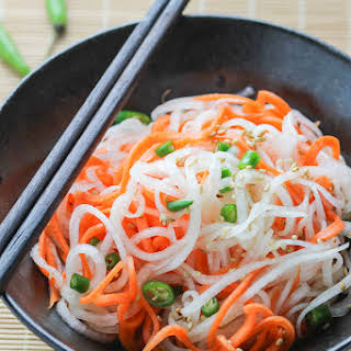 Carrot and Daikon Radish Salad.