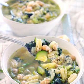 Green Machine Minestrone Soup.