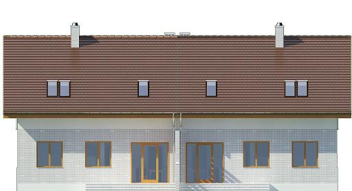 Radosna z garażem 1-st. bliźniak A-BL2 - Elewacja tylna