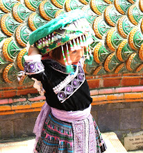 Photo: Day 336 - Another Little Girl in Hill Tribe  Dress at the Wat in  Doi Suthep