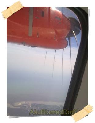Pemandangan luar tingkap kapal terbang FireFly