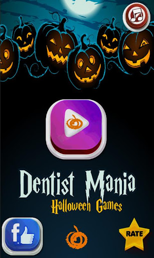 牙医疯狂 - 万圣节游戏
