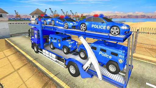 Grand Police Transport Truck screenshot 24