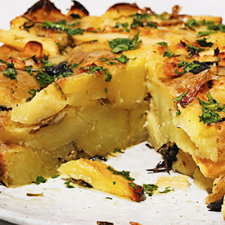 Roast Potato And Parsnip Cake.