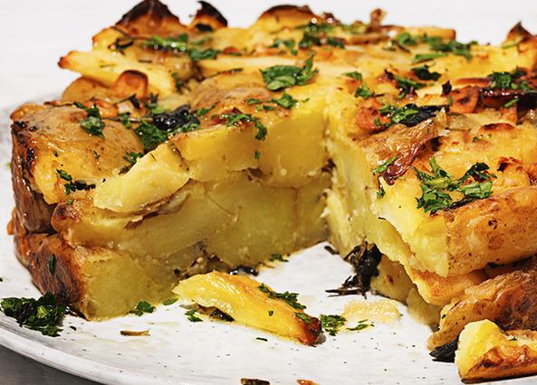 Roast Potato and Parsnip Cake Recipe