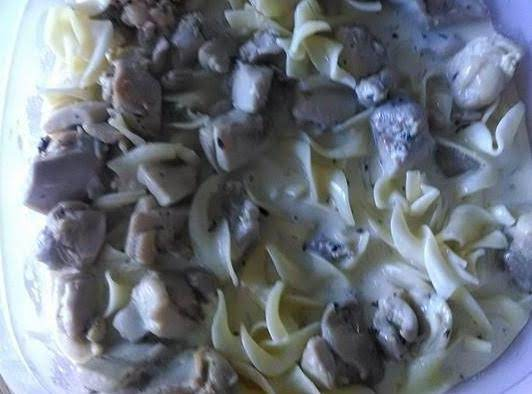 Chicken In Lemon Cream Sauce With Pasta