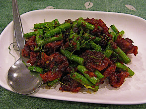 Photo: stir-fried pork and long beans with prik king chilli paste (pad prik king moo)