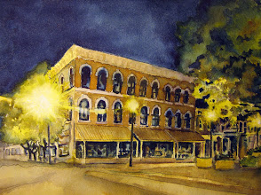 "Photo: St. Oliver Hotel, Knoxville.  watercolor.  8""x10"""