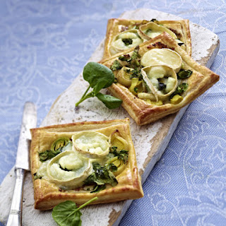 Watercress and Goat Cheese Tarts