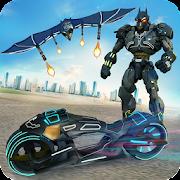 Flying Bat Moto Robot Bike Transform Robot Games