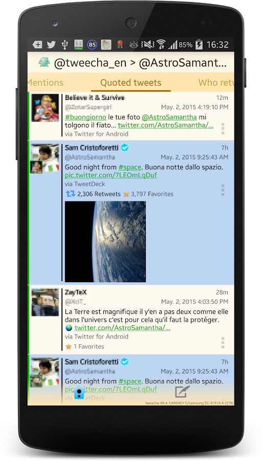 Tweecha Lite for Twitter- screenshot