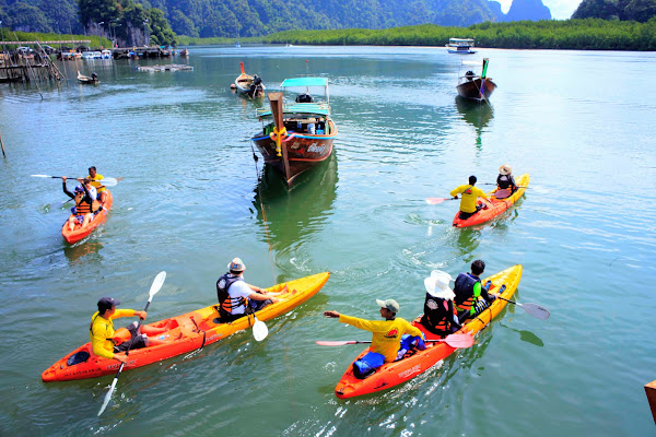Start paddling from Sea Kayak Pier at Ao Thalane Bay