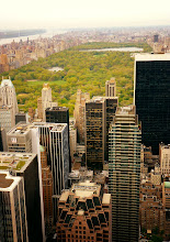 Photo: Central Park and midtown skyscrapers viewed from above. New York City.  View the writing that accompanies this post here at this link on Google Plus:  https://plus.google.com/108527329601014444443/posts/fSHmFrUPhMV  View more New York City photography by Vivienne Gucwa here:  http://nythroughthelens.com/
