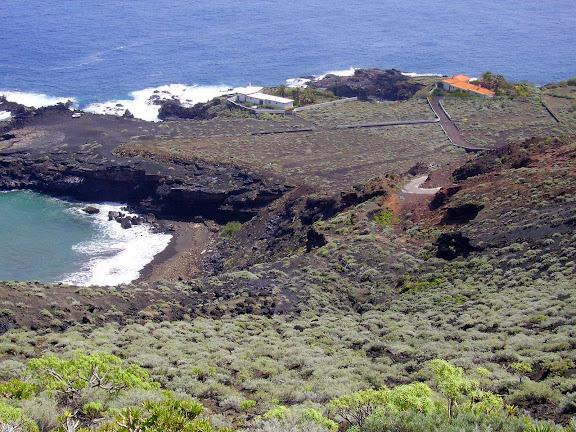 Kleiner Strand bei La Cangrejera,La Palma,Kanaren