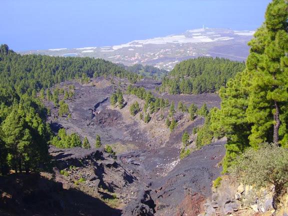 Ausbruchstelle des Vulka San Juan,La Palma,Kanaren