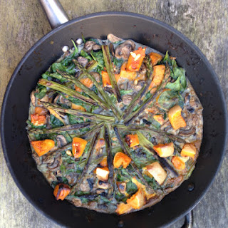 Roasted Squash And Asparagus Tortilla.