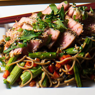 Miso Tuna and Soba Salad.