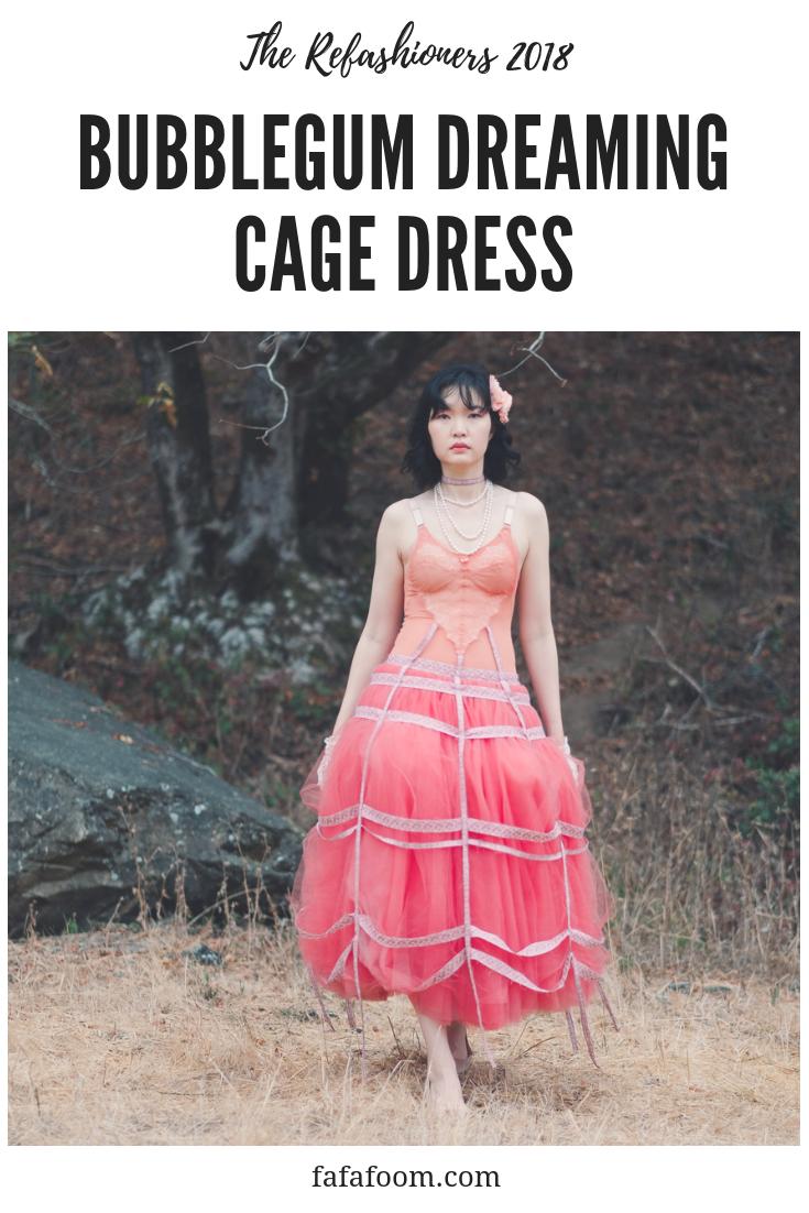 Bubblegum Dreaming Cage Dress - DIY Fashion Garment | fafafoom.com