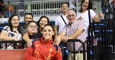 Carmen Martín y su familia en el Palacio Mediterráneo.