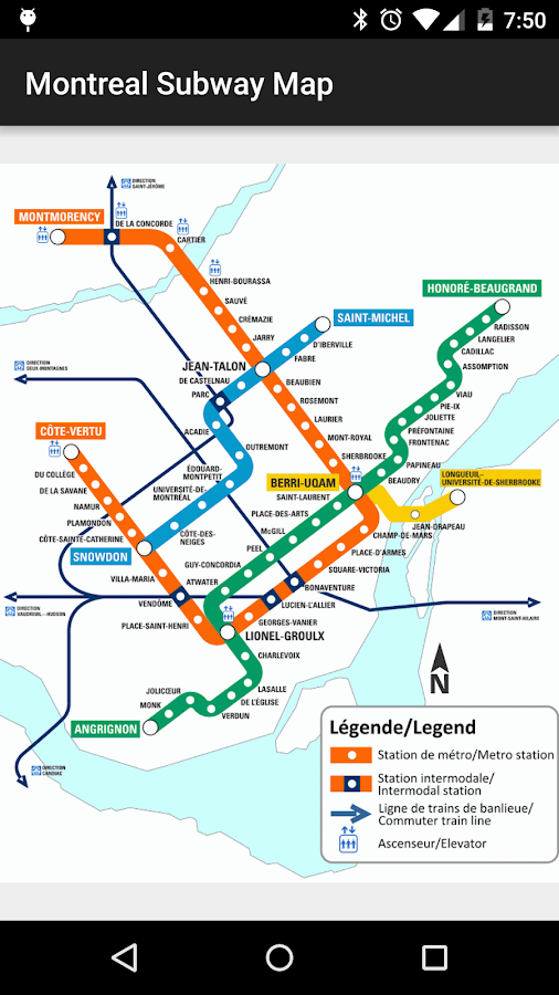 Montreal Subway Map- screenshot