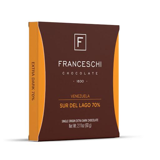 chocolate franceschi sur del lago 70% 60gr