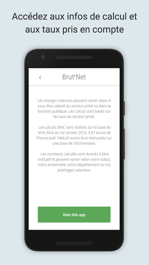 Calcul Salaire Brut Net 2017 تطبيقات Android على Google Play