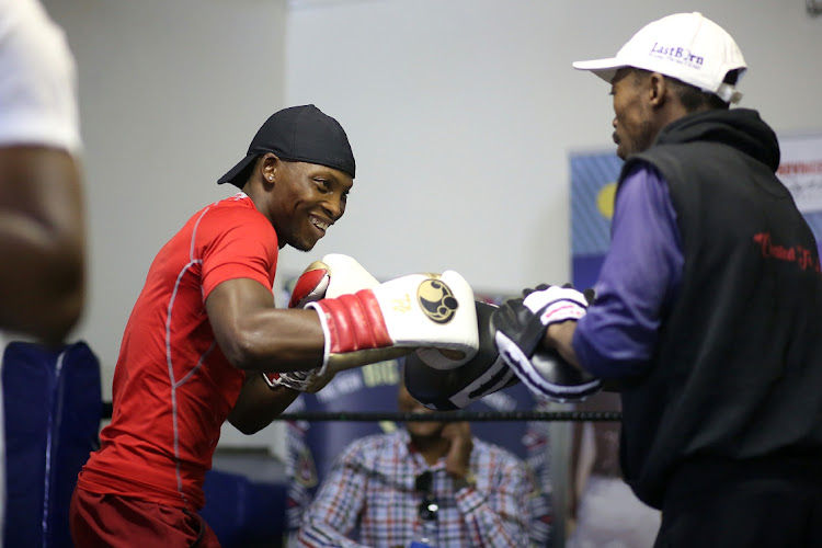 Zolani Tete training at his gym in Mdantsane.