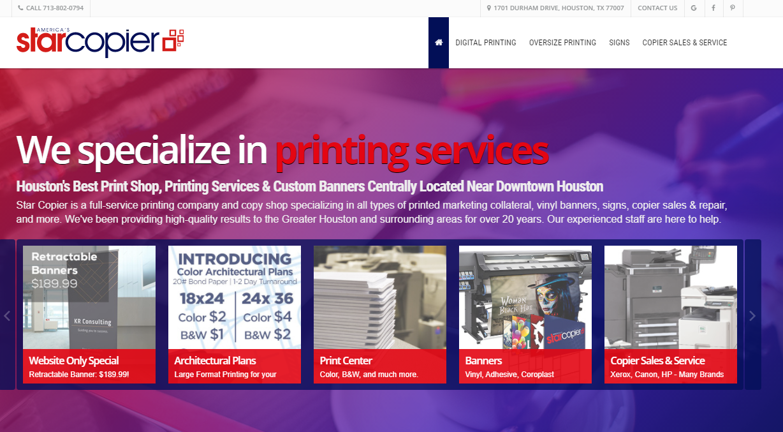 America's Star Copier printing services in Houston, TX