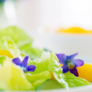 Spring Salad with Bibb Lettuce, Oranges, Herbs and Violets