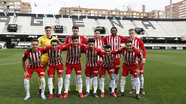 El once del Almería en Cartagena este viernes.