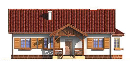 Dom przy Chabrowej - Elewacja przednia