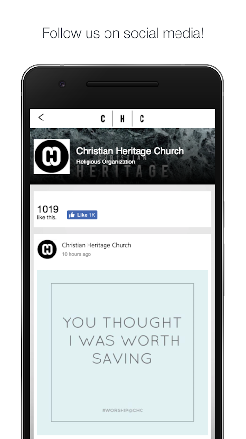 Christian Heritage Church- screenshot