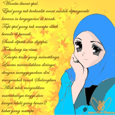 gambar wanita muslimah dan kata mutiara