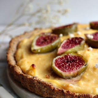 Gluten Free Baked Custard and Fig Tart Recipe