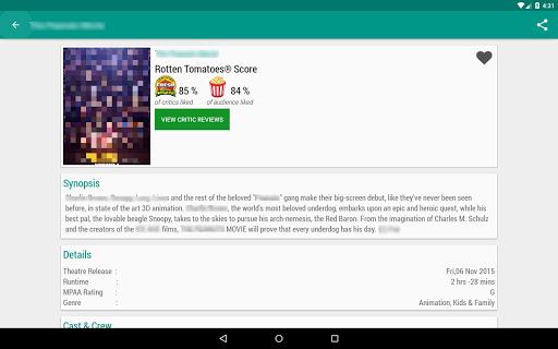 Movie & TV Listings – Recommendations & Reviews v1.9 screenshots 9