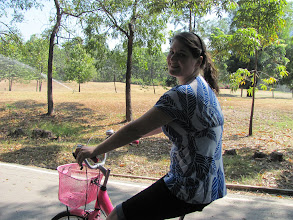 Photo: April asked for a pink bike....in Thai. Get on her level.