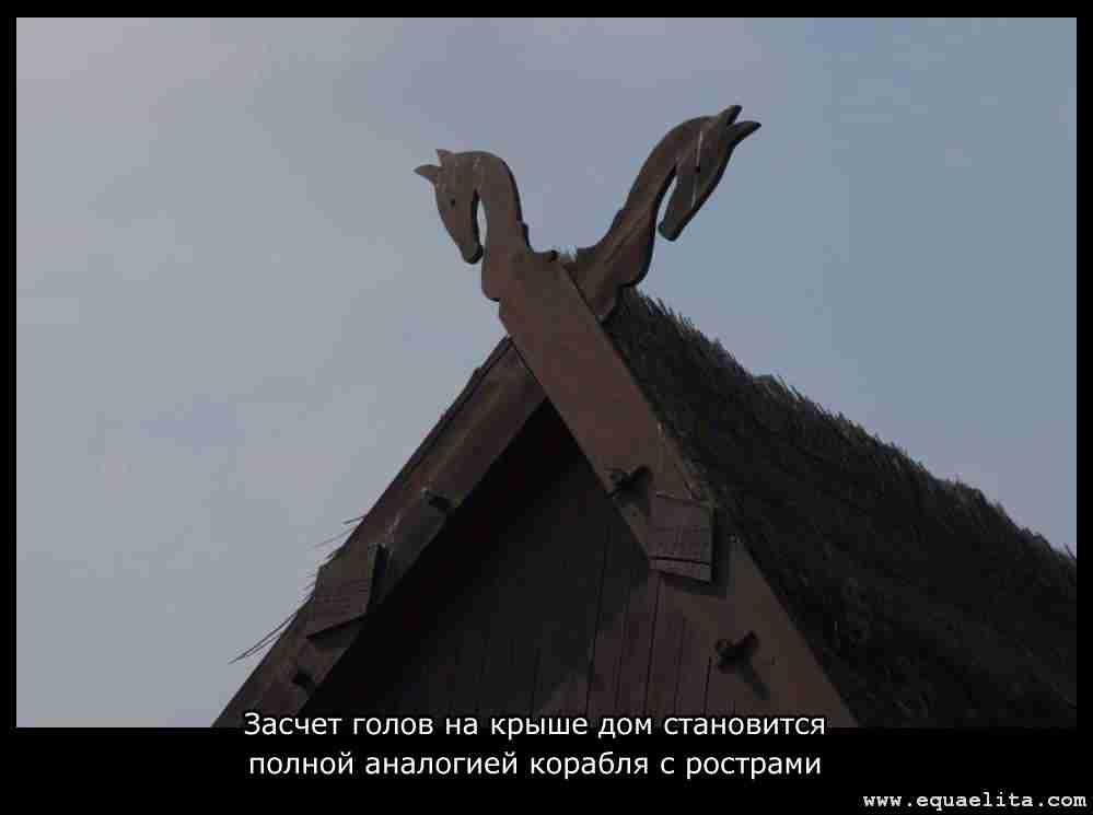 Лошадиные головы на крыше