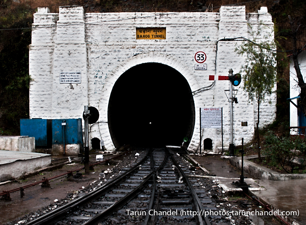 Barog Tunnel Shimal Kalka Train Himachal, Tarun Chandel Photoblog