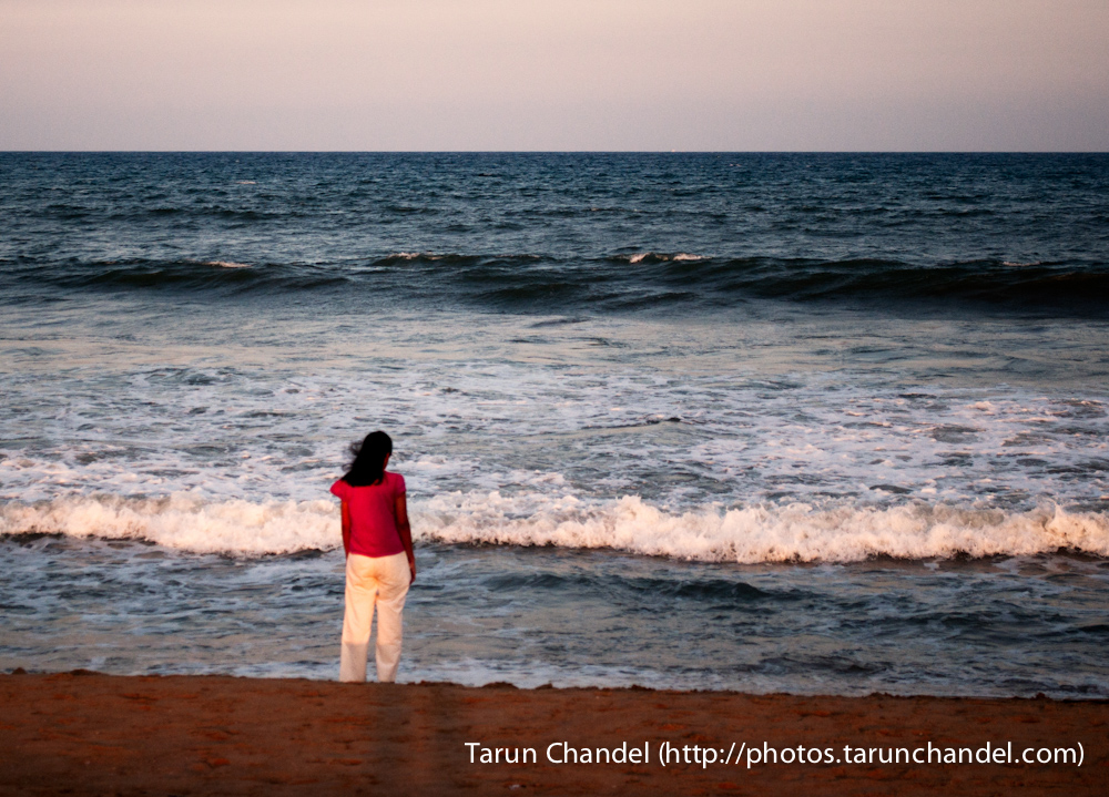 Marina Beach Channai Girl, Tarun Chandel Photoblog