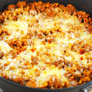 One Pan Cheesy Chili Mac