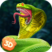 Poisonous Cobra Snake Survival Simulator