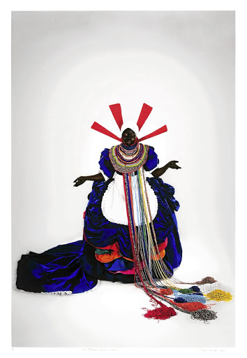 Mary Sibande's 'Her Majesty, Queen Sophie'.
