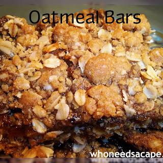 Ooey Gooey Oatmeal Bars