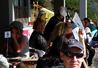 Photo: Sherna having breakfast at Warriwood Beach Surf club.