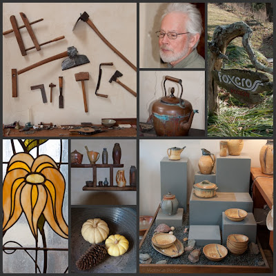 photo collage for Foxcross Pottery
