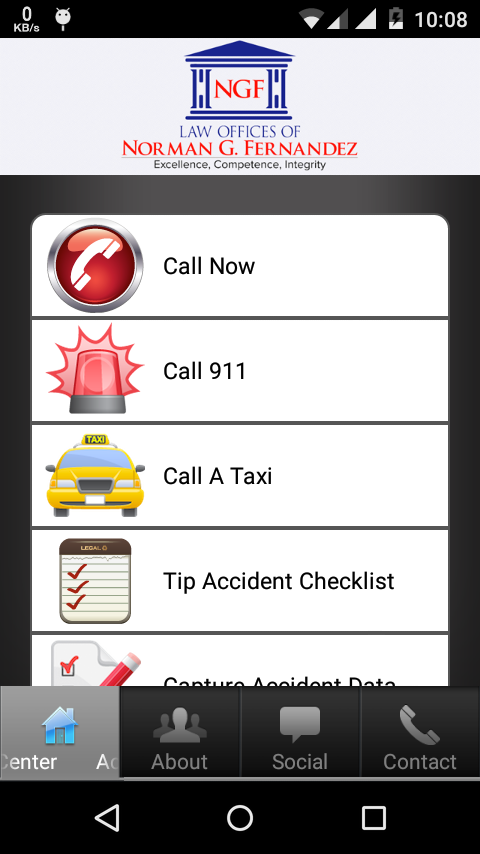 California Accident App- screenshot