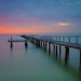 Sunrise at Telok Tempoyak Penang Malaysia by Adi Affendi - Buildings & Architecture Bridges & Suspended Structures